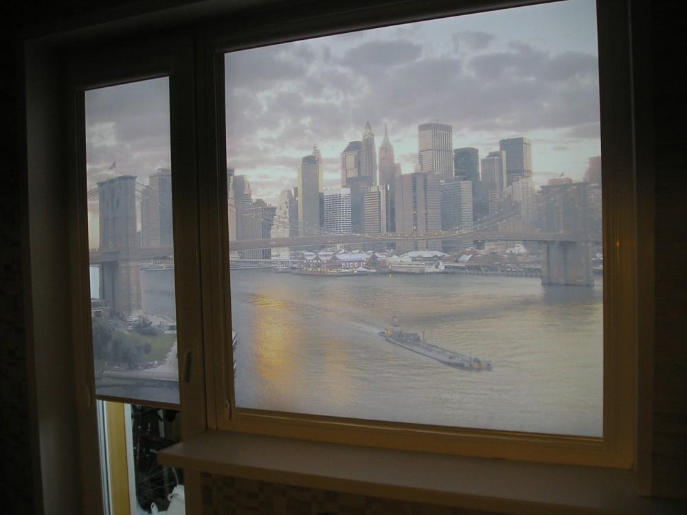 Рулонные шторы жалюзи на окно